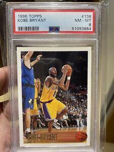 1996-97 Topps Kobe Bryant Rookie Card #138 PSA Graded Near mint-Mint 8