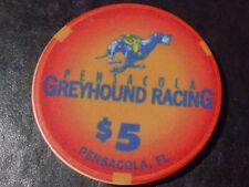 New ListingPensacola Greyhound Racing Casino $5 casino gaming poker chip ~ Pensacola, Fl