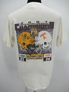 P4691 VTG Men's LSU Vs Tennessee University Championship T-Shirt Size L