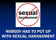 ANTI SEXUAL HARASSMENT STICKERS 2 X A4 PUBLIC SAFETY STAFF SAFETY
