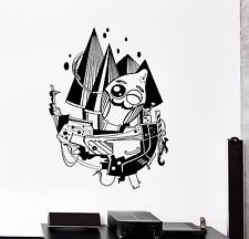 Wall Vinyl Sticker Decal Child Room Jolly Monster Ship Cartoon Fantasy (ed471)