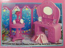 Barbie Beverly Hills Dressing Room Vanity Screen Accessories 1833 NIB 1994 b