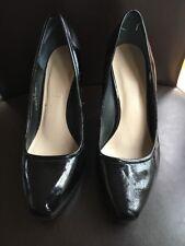Ladies Shoes Size 5.5 Black Patent High Heel Autograph <T16116