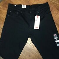 Levi's 511 Slim Jeans Stretch Black 045113981 Mens Size 32x32