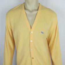VTG Crown Sportswear Cardigan Sweater 100% Orlon Acrylic Turtle Mens Size XL