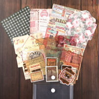 29x Retro Papier Scrapbooking DIY Karten Bastel Making Junk Journal  Künst Decor