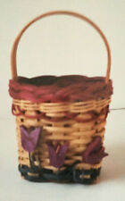 Basket Weaving Pattern Tulip Pouch by Marilyn Wald