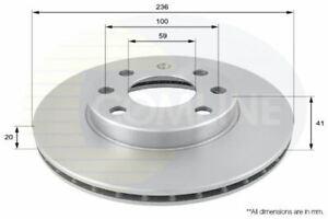FOR CHEVROLET AVEO 1.4 L COMLINE FRONT BRAKE DISCS ADC1047V