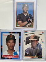1988 Topps Roberto Alomar #4T RC / 3 Card lot W/ Fleer & Donruss Rated Rookie