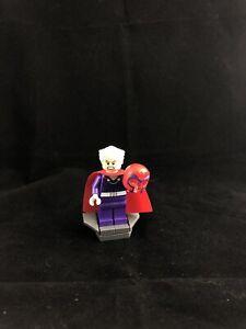 Lego X-men Vs Sentinel 76022 Magneto Erik Mini figure Superheroes Minifig