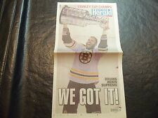 2011 Stanley Cup Finals Newspaper  Boston Bruins vs Vancouver Canucks