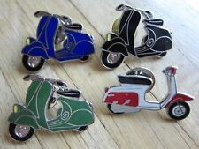 4 x VESPA PK  Pin / Pins: Roller / Scooter - emaillert - Motorcycle  Kult