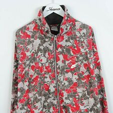 Nike Camo Pattern Jacket Windbreaker White Grey & Red Size 2XL | Vintage Retro