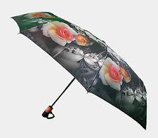 Auto Open & Close Folding Umbrella, colorful Print Windproof Automatic Umbrella