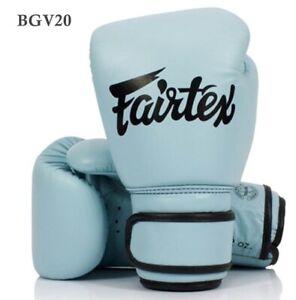 FAIRTEX BOXING GLOVES  PASTEL BLUE BGV20 LIMITED EDITION MUAY THAI MMA K1