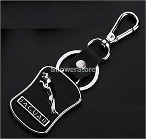 Jaguar Brand Keyring UK Seller Black Silver Key Ring Premium Quality