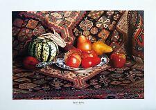 """Tim Stevenson """"Fruit Bowl""""  Still Life of fruit, squash  LTD ED  S/N  Artist Bio"""