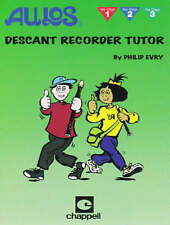 Aulos Descant Recorder Tutor by Philip Evry. Key stages 1,2 & 3. NEW ! Free post