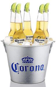 """Corona Beer Galvanised Ice Bucket """"Cubo"""" Bottle Opener Handle Home Bar Pub Man"""