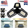 Best 8000LM Deformable LED Garage Light Super Bright Shop Ceiling Lights Bulb US