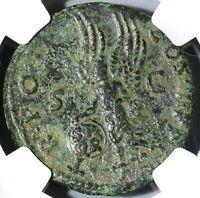 101 NGC VF Trajan Roman Empire AE As Victory Shield Inscribed SPQR (19042601C)