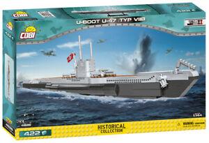 Cobi 4828 1:144 Scale German U-Boot U-47 Typ VIIB (422pcs)  Building Blocks WWII