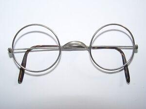 alte Runde Nickelbrille um 1940 Metall  SattelstegNickel Brille Hornbügel