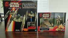 Star Wars E1 (Lot of 2) Armored Scout Tank & Trade Federation Droid Fighters