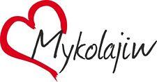 """AUTO Adesivo """"mykolajiw"""" sticker città ucraina circa 8x16cm contorno tagliati"""