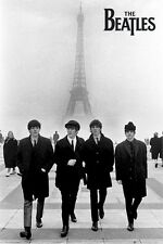 THE BEATLES ~ PARIS EIFFEL TOWER 24x36 MUSIC POSTER John Paul George Ringo