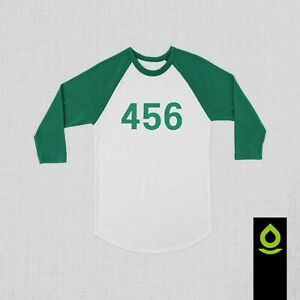 Squid Game Custom numbering Ragaln 3/4 Baseball shirt