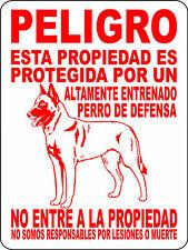 BELGIAN MALINOIS DOG SIGN,GUARD, WARNING ALUMINUM SIGN VINYL GRAPHICS 1245