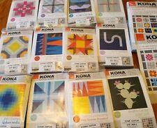 Kona Complete Top Block Of The Month Quilt Kit 12 Kits & Finishing Kit Modern