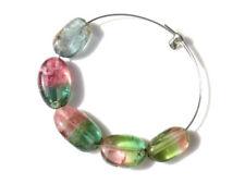 Natural Watermelon Tourmaline Smooth Polish Oval Nugget Gemstone Beads 4045