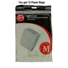 Type M Vacuum Cleaner Paper Bag for Genuine Hoover Canister 12pk
