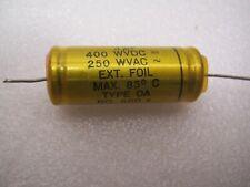 JENSEN  0.1 uf 400V Low ESR  PAPER IN OIL CAPACITOR for TUBE AMP #2