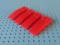 Lego Slope Curved 6x2 [44126] Red x4