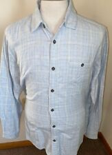 Carbon 2 Cobalt Men's Sz L Blue Plaid Check L/S Button Down Flannel Cotton Shirt