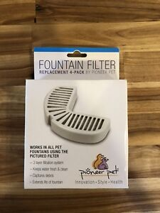Pioneer Pet Replacement Filters for Ceramic and Stainless Steel Fountains 2 Pack