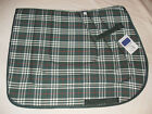 NEW HUNTER GREEN QUILTED COTTON / POLY ALL PURPOSE SQUARE ENGLISH SADDLE PAD