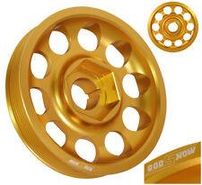 02-06 RSX DC5 / -05 SI EP3 K20 K24 LIGHT WEIGHT ALUMINUM CRANK SHAFT PULLEY GOLD
