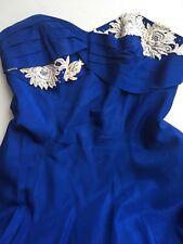 Authentic 1950s Vintage Boned royal blue dress Prom Wedding Bridesmaid uk 8-10