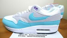NIKE AIR MAX 1 ANNIVERSARY WHITE AQUA GREY BLACK GREEN BLUE SZ 10.5 [908375 105]