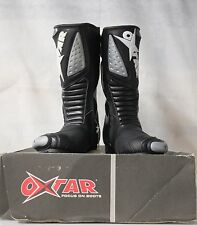 OXTAR SS PERFORMANCE-2 MOTORCYCLE BOOTS - 40 BLACK. RRP £149.99 OUR PRICE £49.99