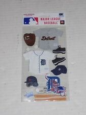 New in Package MLB Scrapbooking Sticker Set Detroit Tigers