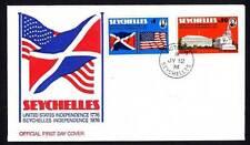 Seychellen 356/7 FDC 200 Jahre Unabhängigkeit der Vereinigten Staaten