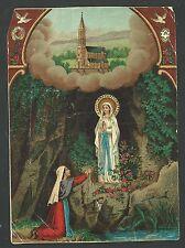 Estampa antigua de la Virgen de Lourdes andachtsbild santino holy card santini