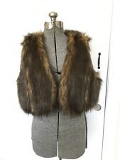INC Vest Faux Fur Shrug Bolero Jacket  International Concepts Brown PET/LGE