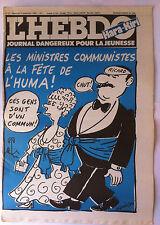 "Hara Kiri N°8 du 9/09/1981; ""journal dangereux pour la jeunesse"""