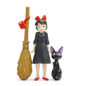 3pcs/set Studio Ghibli Kiki's Delivery Service Jiji Cat Kiki Figure Figurine Toy